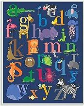 Die Kinder Raum durch Stupell Marine Alphabet