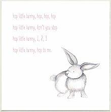Die Kinder Raum von Stupell Hop Little Bunny Rhyme