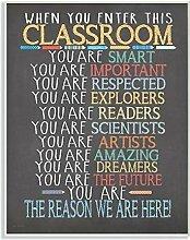 Die Kinder Raum von Stupell Klassenzimmer Regeln