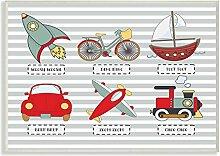 Die Kinder Raum von Stupell Transport Icons &