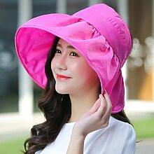 Die koreanische Version des Visor Leeren Sie das obere Hut Uv-rim Faltbare Strand Cap Sommer weiblich Sonnenschutz H¨¹te