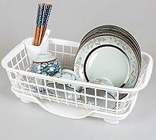 Die Küche. Drainboard Cool Auf Einen Teller Rack Material Kiste Tabelle Spüle Abfluss Korb Kunststoff Waren Schrank,Weiße -