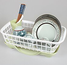 Die Küche. Drainboard Cool Auf Einen Teller Rack Material Kiste Tabelle Spüle Abfluss Korb Kunststoff Waren Schrank,Grün - Weiße