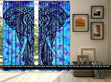 Die Kunst Box Gardinen indischen blau Boho Fenster