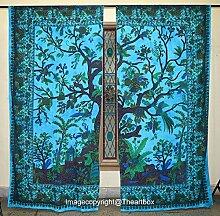 Die Kunst Box Gardinen indischen Türkis Baum des