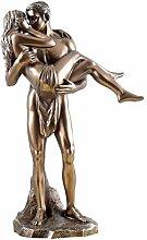 Die Liebenden Liebesretter Akt bronziert Figur