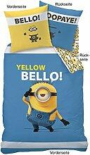 Die Minions Bettwäsche Yellow Bello, 135x200cm