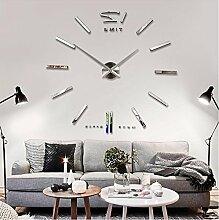 Die Moderne 3D-Diy Fashion Kreative Clock Watch Art Kreativ Wandspiegel Ruhigen Wohnzimmer Tv Wanduhr Tischuhr Quarzuhr, Klassischem Schwarz: 70 * 90 Cm.