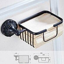 Die neuen Bad-Accessoires,Sucastle Kupfer Kupfer schwarzes Papier Handtuch Körbe europäischen Papier Handtuch Rack Bad Hardware Anhänger Antike europäischen Stil