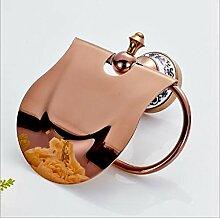 Die neuen Bad-Accessoires,Sucastle Voll Kupfer rose gold Papier Handtuch Box Toilettenpapier Roll Halter Toilettenpapier Pappschachtel Antike europäischen Stil