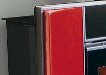 Die Nordica–Kit Rahmen Wendy Finish Seitenteile Maiolica bordeaux und zentralen in Kristall