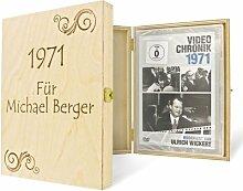 Die persönliche Jahrgangs-DVD-Chronik 1939-1975 in einer edlen Holz Geschenkbox mit Ihrem Wunschnamen