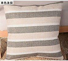 Die rasterfarbe pixel Farbe Streifen Bettwäsche Kissen Sofakissen kit schwebende Fenster pad home Bett zurück Chip - Kissen, 40 x 40 cm, beige Streifen