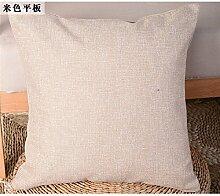 Die rasterfarbe pixel Farbe Streifen Bettwäsche Kissen Sofakissen kit schwebende Fenster pad home Bett zurück Chip - Kissen, 40 x 40 cm, beige Flach