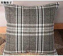 Die rasterfarbe pixel Farbe Streifen Bettwäsche Kissen Sofakissen kit schwebende Fenster pad home Bett zurück Chip - Kissen, 45 X 45 CM, GRAU Tartan Kaffee