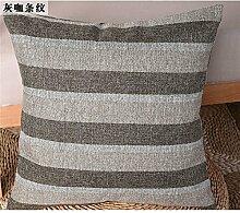 Die rasterfarbe pixel Farbe Streifen Bettwäsche Kissen Sofakissen kit schwebende Fenster pad home Bett zurück Chip - Kissen, 40 x 40 cm, grau lady Streifen
