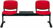 Die Seggiola–Stuhl Office ISO Bank–Sitz: Kunstleder schwarz–Modul: 4Sitzer
