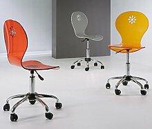 Die Seggiola–Stuhl Office Margerite–Set Rollen Parkett: no durchsichtig