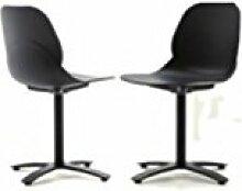 Die Seggiola–Stuhl Shell Cross–Struktur: Aluminium schwarz–Sitzfläche: Polypropylen schwarz–Conf. 4Stück.
