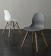 Die Seggiola–Stuhl Shell Wood 022 Quarzgrau