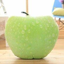 Die Simulation von Chinakohl Gemüse kreative Kissen 3D-Plüsch Kissen Baumwolle Kissen zurück Taille Mittag essen Büro, grüner Apfel, 45 * 45 cm