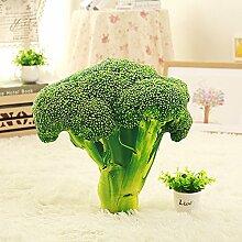 Die Simulation von Chinakohl Gemüse kreative Kissen 3D-Plüsch Kissen Baumwolle Kissen zurück Taille Mittag essen Büro, Brokkoli, 50 * 50 cm