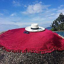 Die Sommersonne mit Fransen Schal, Schal Schal Schal Tourismus am Meer Strand Handtuch Sonnenschirm, Rotwein