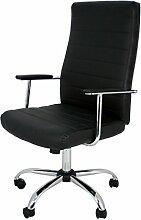 Die spanische Stuhl PATONES Büro Regisseur-Stuhl mit Armlehnen, Kunstleder, Schwarz, 50x 47x 116cm