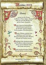Die Staffelei Geschenk Meister Urkunde mit