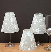 DIE STERNENHELENE, 3 Weinglas Lampenschirme aus