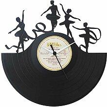 Die Tänzerin tänzt Ballett Geschenkidee, Vinyl Schallplatten- Uhr, Schwarz, Vinyluse original