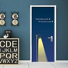 Die Tür gegen die hölzerne Tür Renovierung - Glastüren film Schiebetüren der Kunststoff Pflanze einen Schlafraum mit eigenen kreativen, Straßenbeleuchtung, Groß