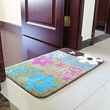 Die Tür zum Schlafzimmer Mat Scheuerschwämme Wohnzimmer Fuß, 40 * 60 cm, verbrachte Four-Color