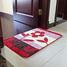 Die Tür zum Schlafzimmer Mat Scheuerschwämme Wohnzimmer Fuß, 40 * 60 cm, Allein