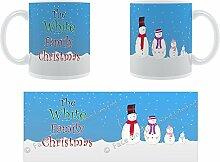 Die weiße Weihnachten-Schneemann Family