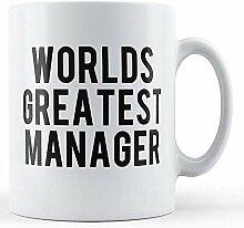 Die weltbeste Manager-bedruckte Tasse