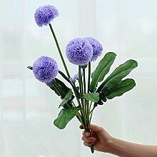 Die Zwiebel Blume indoor Wohnzimmer dekorative Blumen, Silk flower bouquet Dekoration Tisch floral Heimtextilien Kunststoff Zubehör, Lavendel