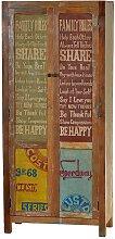Dielenschrank im Vintage Design Recyclingholz