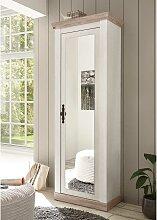 Dielenschrank mit Spiegeltür Weiß und