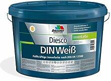 Diesco DIN Weiß Wandfarbe Innenfarbe (12.5 Liter)