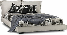 Diesel Living - Nebula Five 160 Bett, Leinen stone washed, White Bone