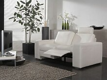 Dietsch Donna Paolo Nero Sofa 2 sitzig mit einseitiger Relaxfunktion Sitzqualität, Armteil und Bezug wählbar