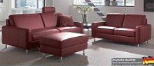 Dietsch Paolo Nero Davina 3 Sitzer Sofa Leder