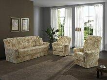 Dietsch Wien Polstergarnitur 3 teilig mit Sofa 3sitzig Sessel und Hochlehnsessel Sitzhöhe und Bezug wählbar