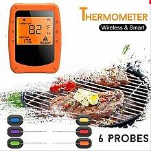 Digital Bbq Thermometer Mit 6 Sondensteuerung