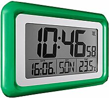 Digital Funkwanduhr Funkuhr Wanduhr Tischuhr Uhr Grün