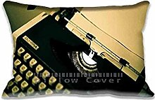 Digital Print Decorative Home Pillow Cushion Covers Sofa Chair Seat Old Typewriter Pillow Case Rectangle 20x30 Inch For Pillow(Twin Sides)