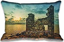 Digital Print Decorative Home Pillow Cushion Covers Sofa Chair Seat The Ruins Pillow Case Rectangle 20x30 Inch For Pillow(Twin Sides)