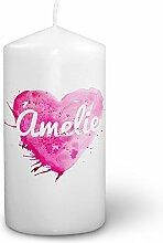 digital print Kerze mit Namen Amelie - Fotokerze