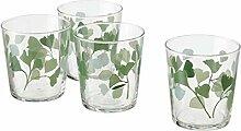 Digital Shoppy IKEA Glas, Klarglas, Blattmuster,